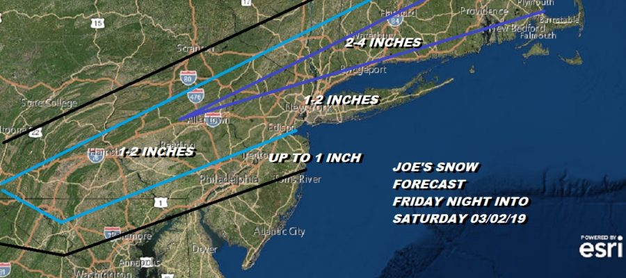 JOE'S SNOW FORECAST FRIDAY NIGHT INTO SATURDAY 03/02/19