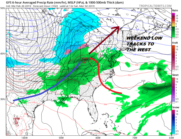 Cold Air Snow Chance Wednesday Night