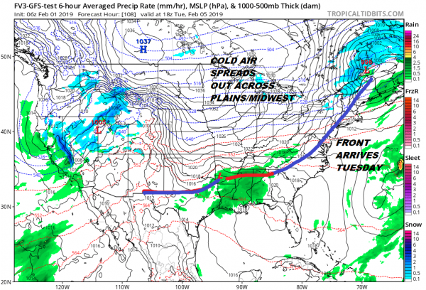 Warmup Into Tuesday Long Range Muddled Midweek On