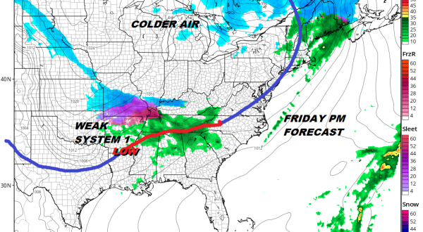 Cold Front Approaches Quiet Weekend Chance Snow Sunday Night