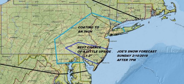 Winter Weather Advisory South Jersey Southeast Pennsylvania Tonight into Monday Snow Forecast Sunday Night Tuesday Snow Outlook Unclear