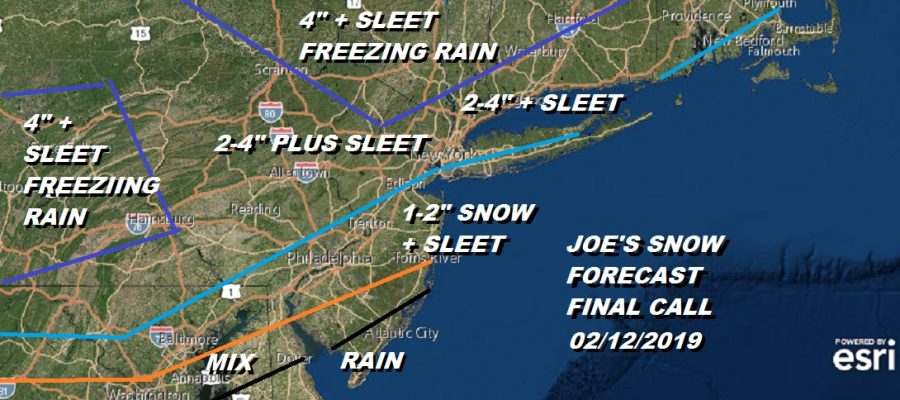 Snow Sleet Freezing Rain Joe's Final Call 02122019