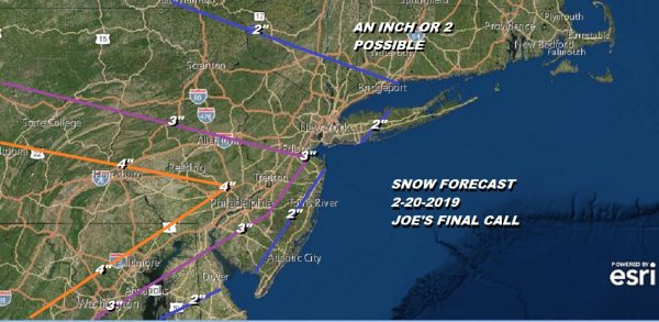 Winter Weather Advisory Wednesday Joe's Final Call Snow Forecast