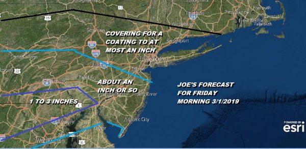 Snow Tonight Misses Areas South of NYC & Route 78. Early Snow Call Friday Morning