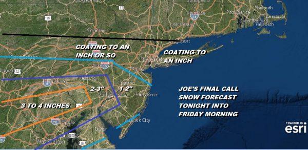 Snow Tonight More South Less North Snow Rain Friday Night