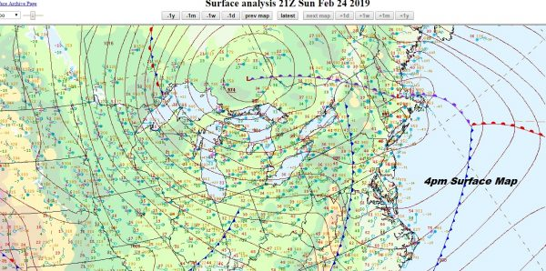 Strong Winds Sweeping Eastward Gusts 60 mph