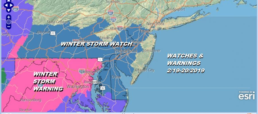 WATCHES & WARNINGS 2/19-20/2019
