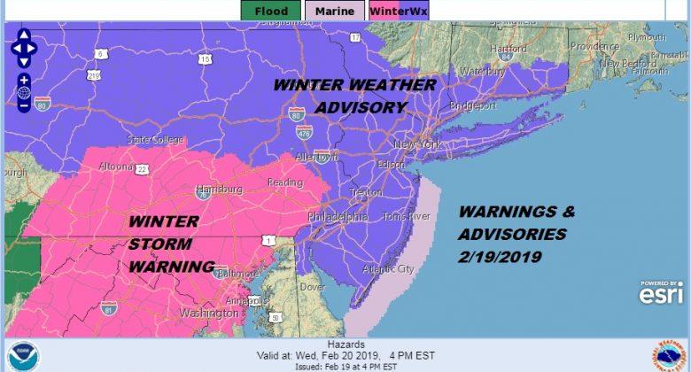 Winter Weather Advisory Snow Sleet Rain