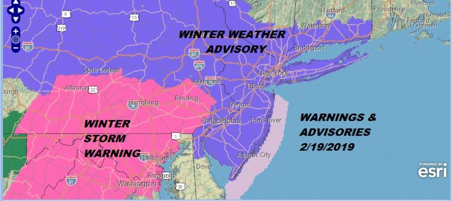Winter Weather Advisory Snow Sleet Rain