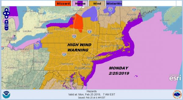 High Wind Warning Continues Winds Gusting 60 MPH