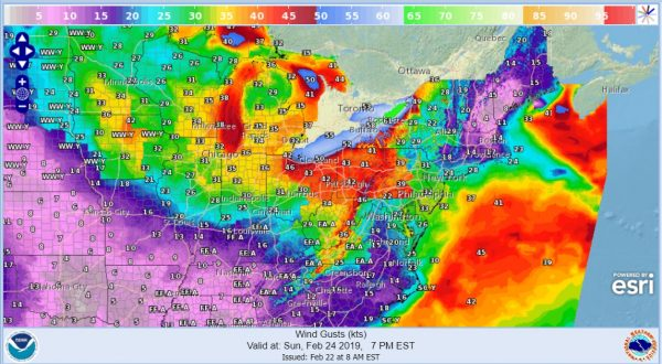 Major Storm Great Lakes Rain Saturday Night Sunday Strong Winds