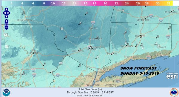 Wintry Mix Early Sunday Inland Morning Rain Ends Midday