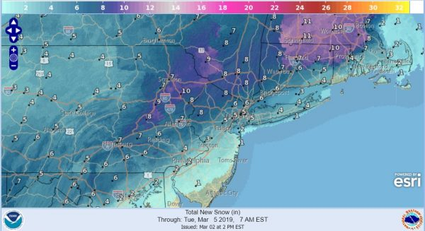 Snow Threat Grows Late Sunday Early Monday