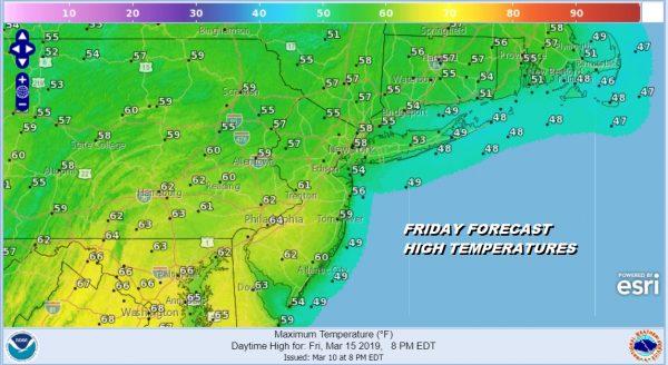 Better Seasonal Weather Ahead Monday Through Wednesday