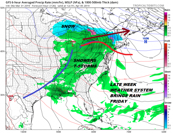 Showers Moving Through Today Coastal Low Moving Offshore Midweek