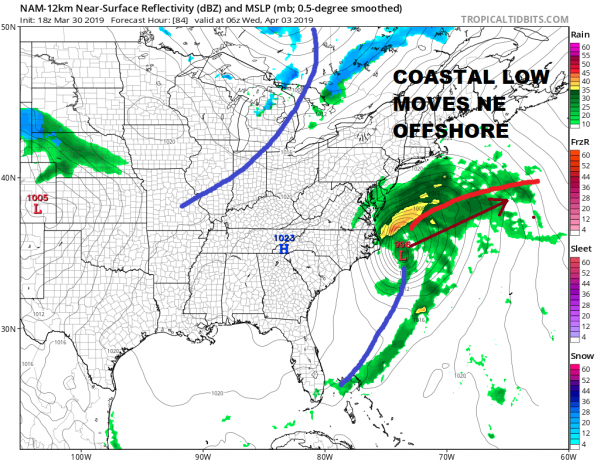 Showers Sunday Cold Front Moving East April Dry Chilly Start
