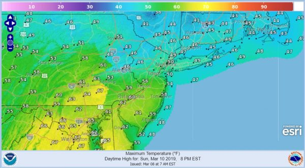 Snow South Light Spotty Temperatures Moderate