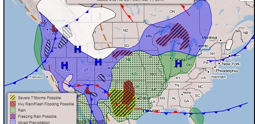 Major Storm Plains Upper Midwest Means Nice Weather Here