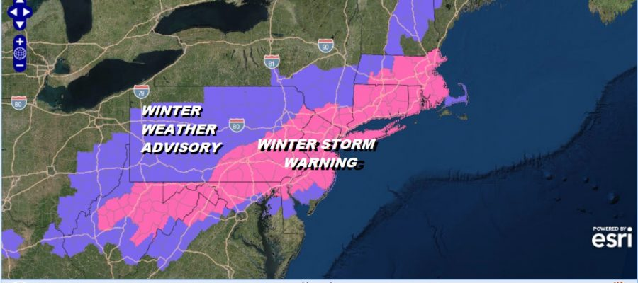Winter Storm Warning New Jersey NYC Long Island Hudson Valley Connecticut
