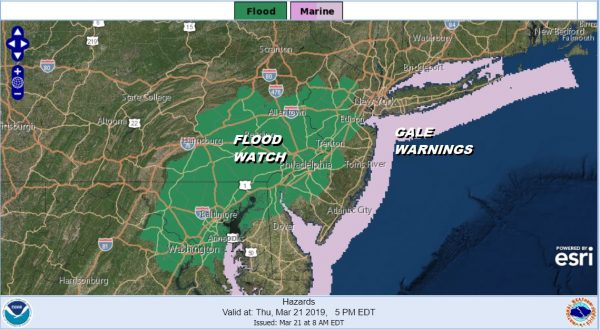 Flood Watch Coastal Flood Warning Storm Inching Northward