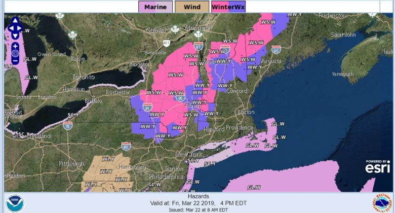 Winter Storm Warning Upstate NY Western New England