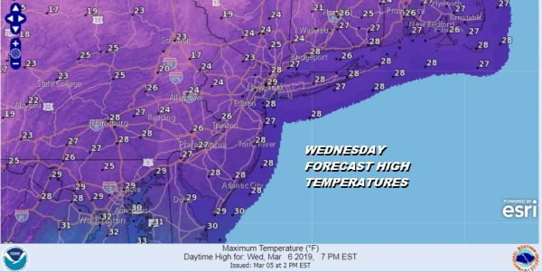 Very Cold Weather Continues Into Friday Warmer Weekend