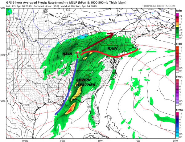 Plains Spring Blizzard Brings Showers Here Late Friday