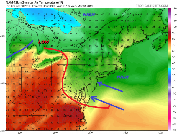 The Onshore Flow Battle Continues All Week
