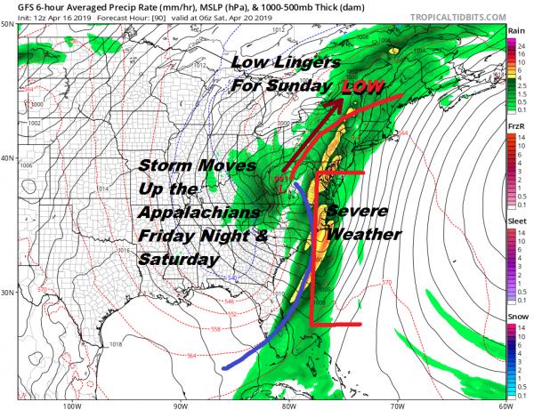 Rain Thunderstorms Friday Night Saturday Showers Linger Easter Sunday