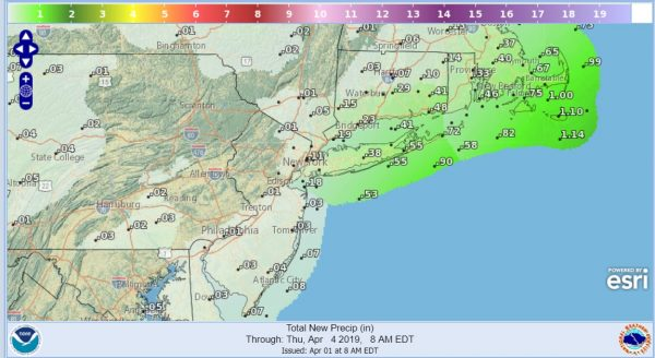 Week Begins Cold Coastal Low Brushes Tuesday Night, Rain Friday