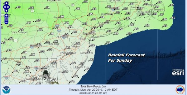 Weak System Spoils Sunday Next Week Unsettled