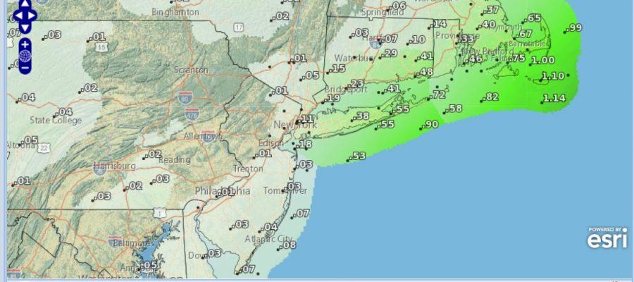 Week Begins Cold Coastal Low Brushes Tuesday Night, Rain Friday