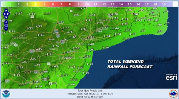 RAINFALL FORECAST THROUGH SUNDAY AM