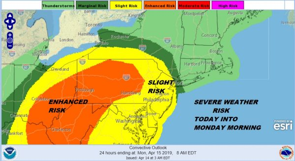 Severe Weather Risk Into Monday Morning Showers Thunderstorms Tonight