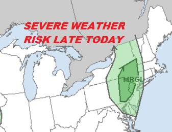 Marginal Risk Severe Weather Late Today New Jersey