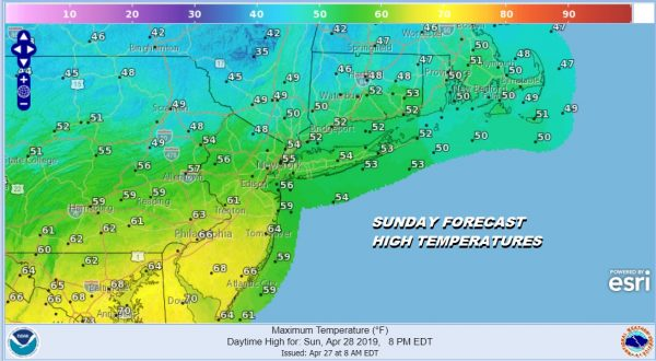 Gusty Winds Clouds Saturday Clouds Chilly Rain Sunday