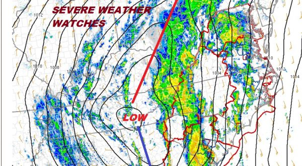 Severe Weather Outbreak Mid & South Atlantic States 6 Tornado Watches As of 2PM