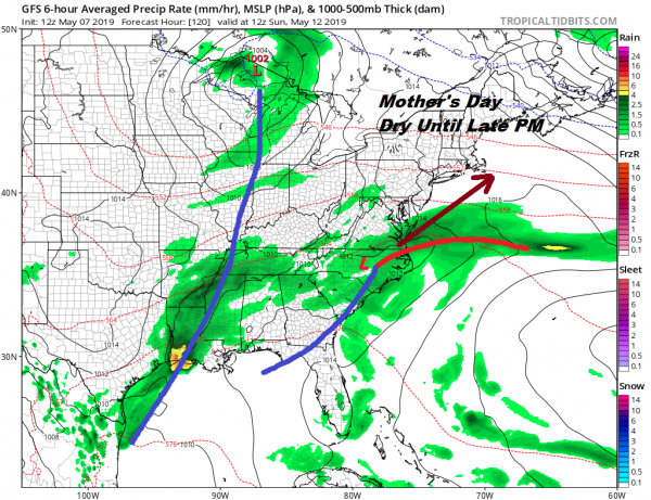 Mother's Day Rains Could Hold Off Until Night