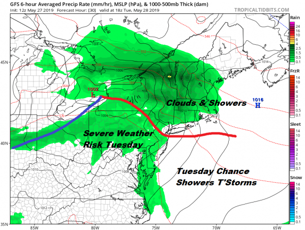 Clouds Showers Tuesday Warmer More Humid Wednesday Thursday