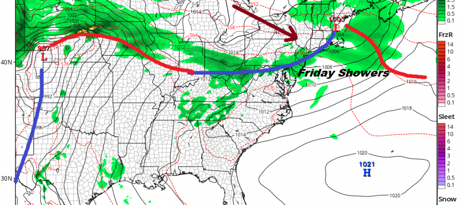 Weather Improves Today Chance Showers Friday Weekend Weather Outlook