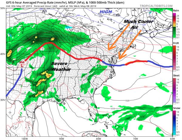 Sunshine Late Day Shower Thunderstorm Onshore Flow Returns Wednesday