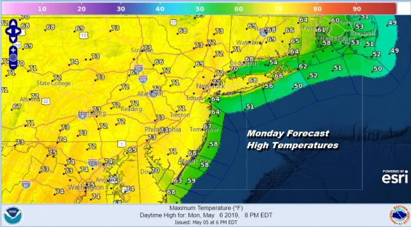 Sunshine Returns 70s Today Near 80 Tuesday