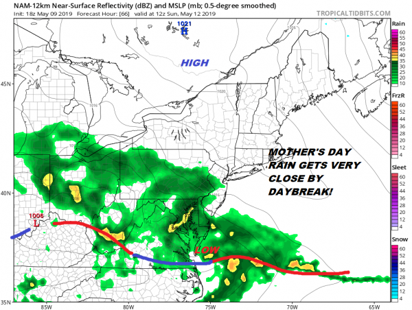 Warm Front Approaching Showers Well West. Weekend Outlook Remains Unclear for Sunday