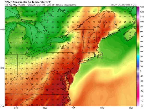 Downpours Exit Weekend Weather Decent Warm Monday