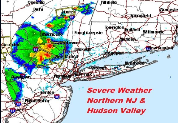 Severe Thunderstorm Warning Parts of NW New Jersey Hudson Valley