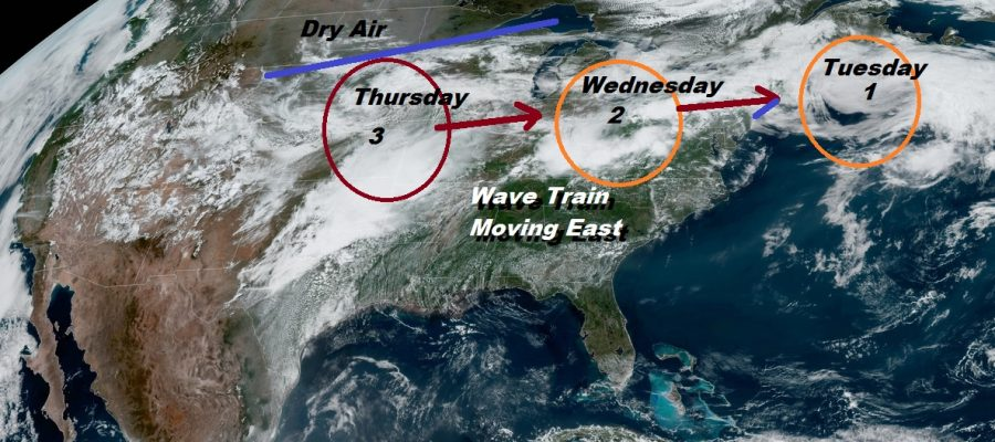 Weather Pattern Change Brings Cool Air Sunday Monday
