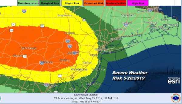 Severe Weather Risks Ahead Today Wednesday