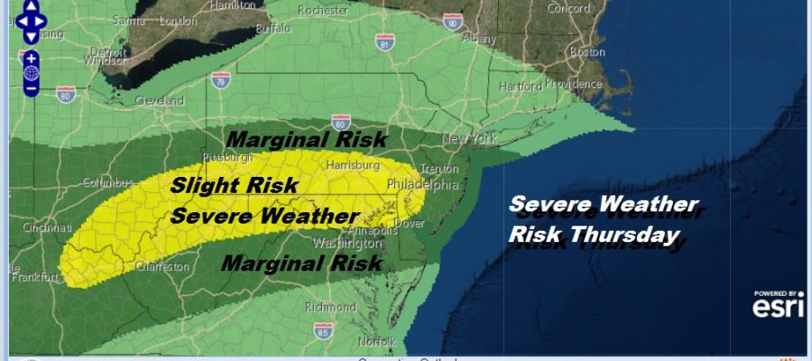 Severe Weather Risk Thursday A Bit Less Than Last Two Days