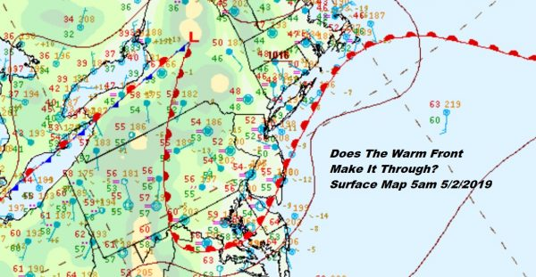 Warm Front Settles Overhead 80 West 60 West Gloomy Friday Weekend