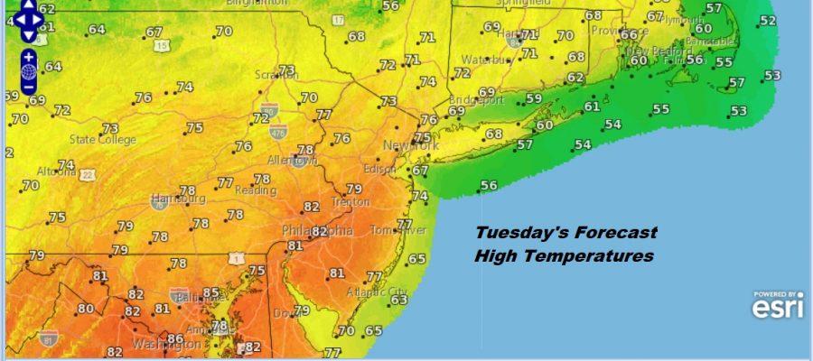 Sunshine Returns 70s Today Near 80 Tuesday